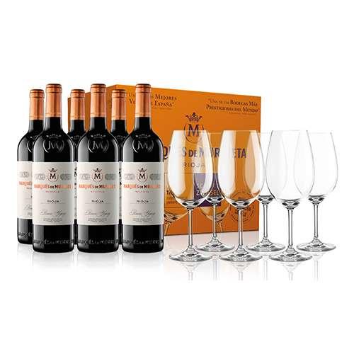 Marqués de Murrieta Reserva 2015 6 Botellas + 6 Copas Zwiesel