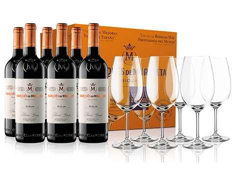 Marqués de Murrieta Reserva 2014 6 Botellas + 6 Copas Zwiesel