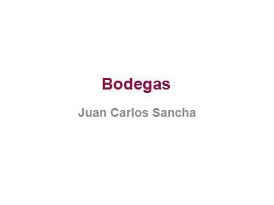 Bodegas Juan Carlos Sancha